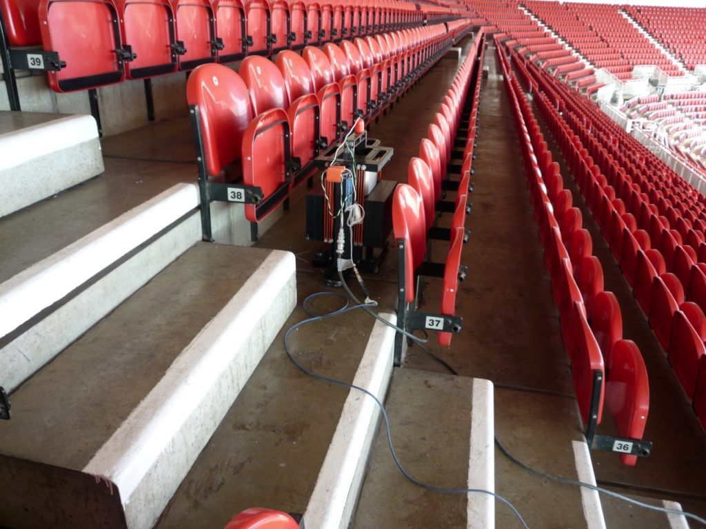 Dynamics Testing of a Newly Constructed Football Stadium
